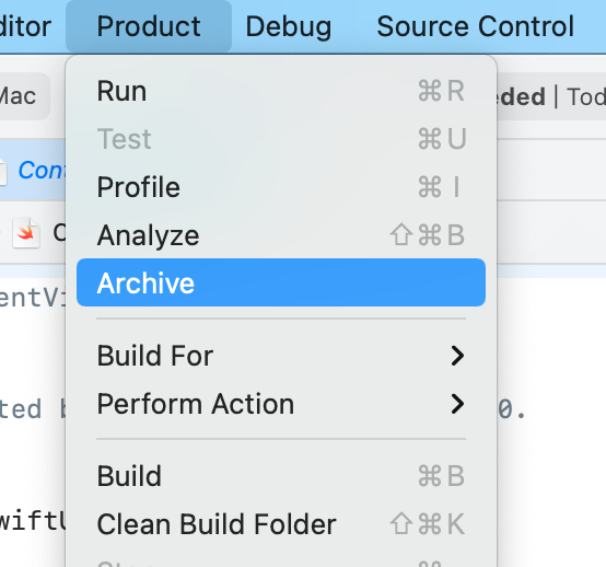 Swiftui macos archive